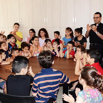 베이루트 성 요셉 본당의 이라크와 시리아 난민 아이들(출처=ACN 자료사진)
