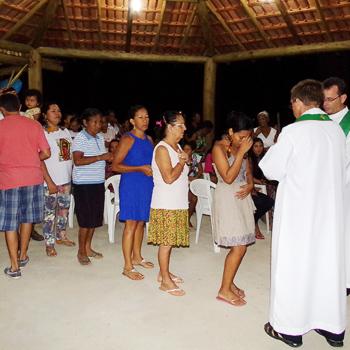 새 성전 봉헌미사 중, 과달루페의 성모 교회(출처=ACN 자료사진)