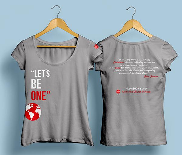#LetsBeOne 캠페인 티셔츠 시안 이미지(출처=ACN 자료사진)