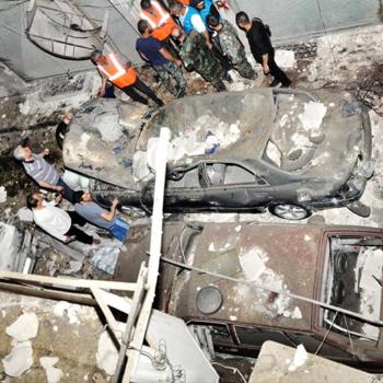 정교회력 부활절에 시리아 알레포 내 그리스도인 지역으로 행해졌던 반군의 공격(출처=ACN 자료사진)