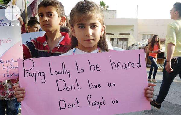 국제어린이날 시리아의 평화를 위해 기도하는 타르투스의 아이들(출처=ACN 자료사진)