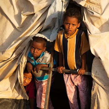 """난민 아이들, Foto © ACN/Magdalena Wolnik"""""""