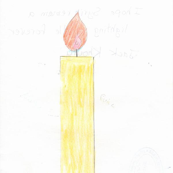 시리아에 촛불이 영원하기를 소망해요