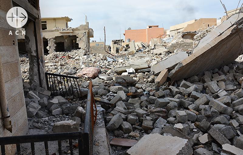 피해를 입은 니네베 평원 주택들(출처=ACN자료사진)