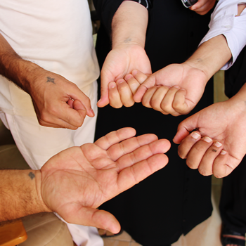 콥트교회 신자들의 십자가 문신 (출처=ACN 자료사진)
