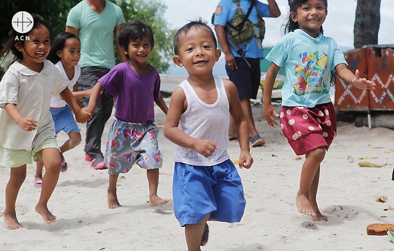 필리핀 삼보앙가 대교구, 그레이트 산타 크루즈 섬에 있는 무슬림 마을. 출처=ACN자료사진