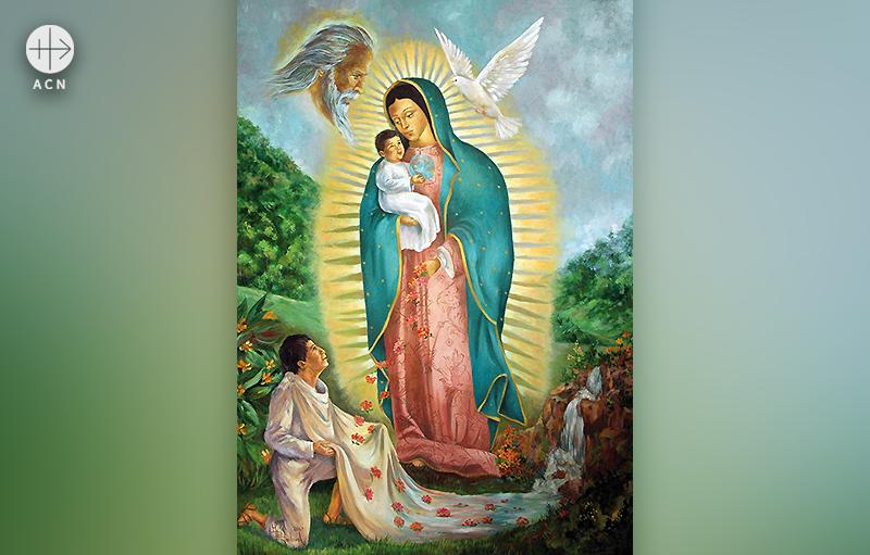 멕시코 나우아티, 과달루페의 성모 성화 (출처=ACN 자료사진)