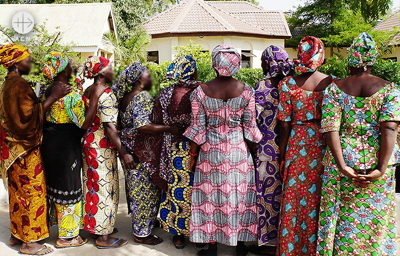 보코하람에 의해남편을 잃은 여성들 (출처=ACN 자료사진)