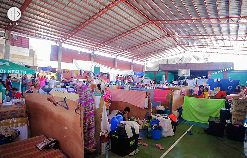 국내난민들의 대피처(출처=ACN 자료사진)