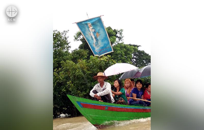 타바웅 지역의 성모승천 대축일 행사 (출처=ACN자료사진)