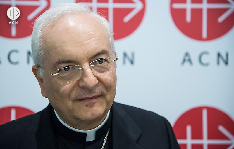 국제 ACN 재단장이자 교황청 내사원장 마우로 피아첸사 추기경(출처=ACN자료사진)