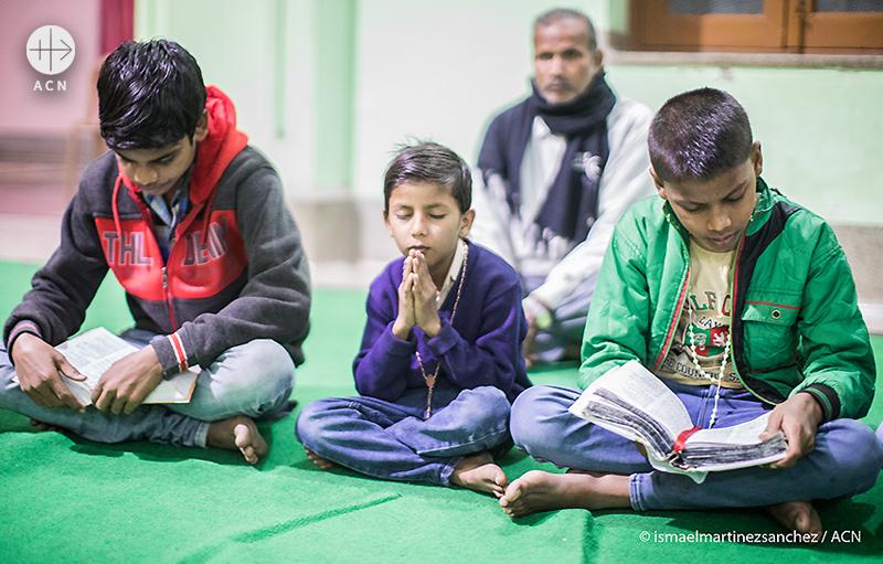 비하르주, 아이들의 기도모임 (출처=ismaelmartinezsanches/ ACN)