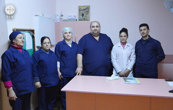 므자이나 병원 관계자들 (출처=ACN 자료사진)