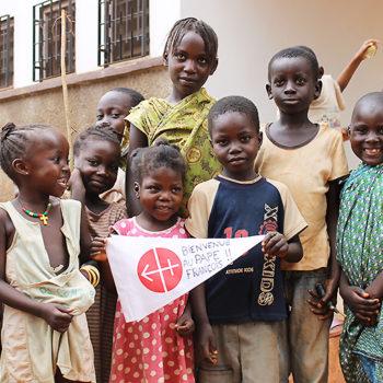 ACN 방문단을 반갑게 맞이하는 아이들(출처=ACN 자료사진)