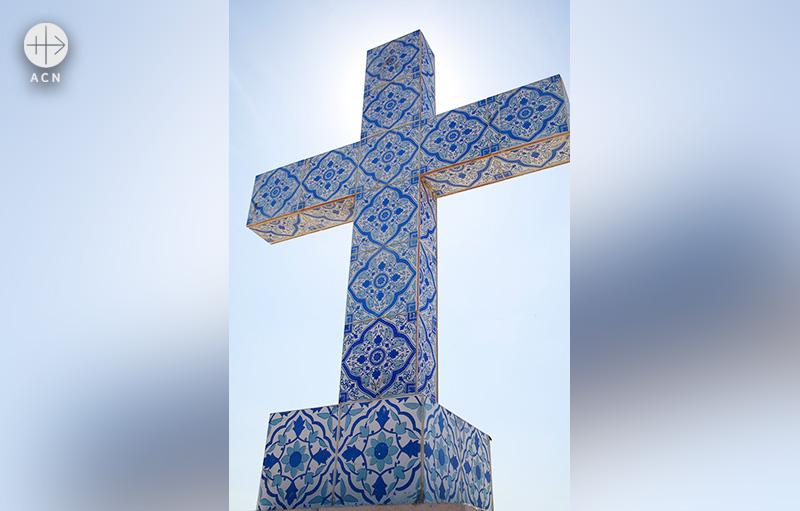 바딘신드 지역 성 토마스 성당의 십자가 (출처=ACN 자료사진)