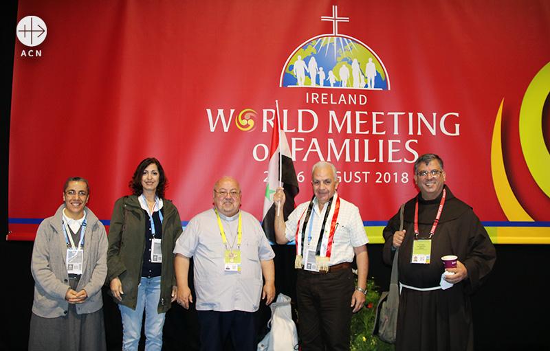 더블린의세계가정대회에 참가한 시리아 주교회의 가정위원회 (출처=ACN 자료사진)