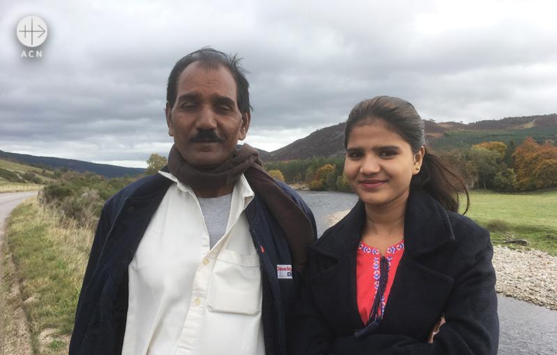 아시아 비비의 남편 아시크 마시와 딸 에이함 아시크 (출처=ACN자료사진)