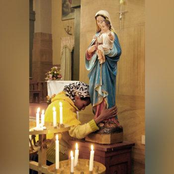 성가브리엘 성당의 미사 중 (출처=ACN 자료사진)