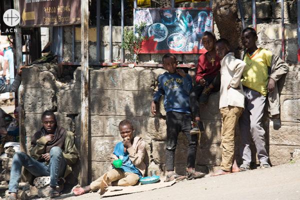 수도 아디스아바바 거리의 아이들 (출처=ACN자료사진)