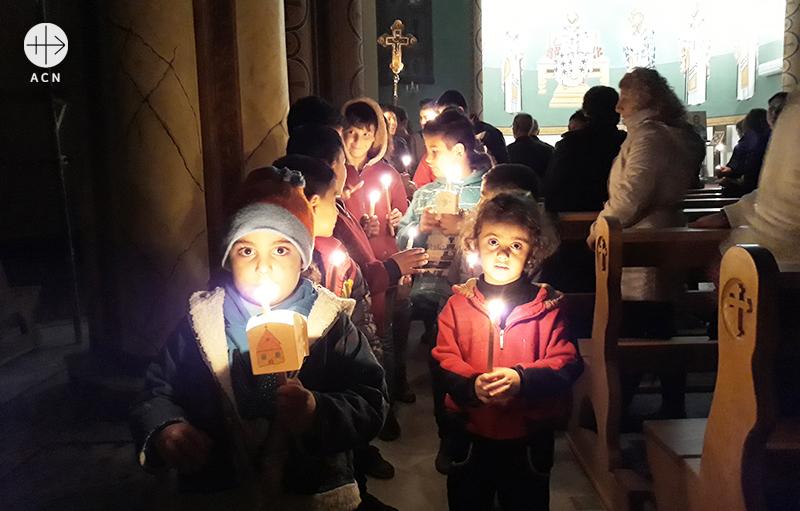 시리아 홈스 멜키트 성모성당의 아이들 (출처=ACN자료사진)