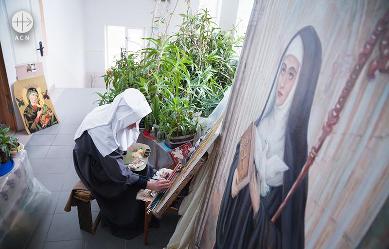 메네딕토 수녀원 그림 워크숍 (출처=ACN자료사진)