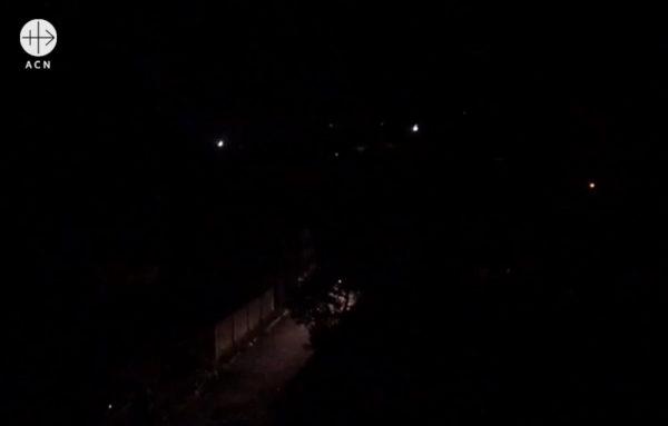 정전으로 암흑이 된 베네수엘라. 마두라 대통령에 대항하는 시위 (출처=ACN자료사진)