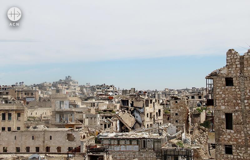 성 엘리야 성당에서 내려 본 알레포 모습 (출처=ACN자료사진)