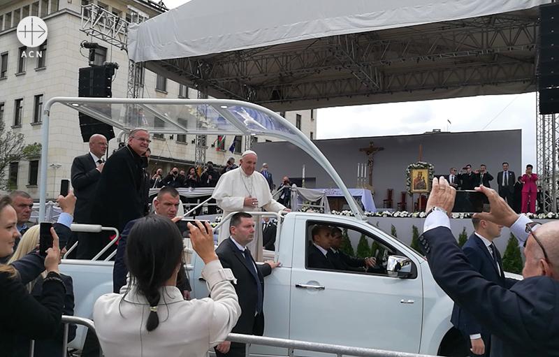 소피아를 방문한 교황 (출처=ACN자료사진)