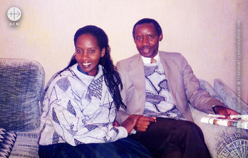 시프리엉 루감바, 다프로제 루감바 부부 (출처=ACN자료사진)