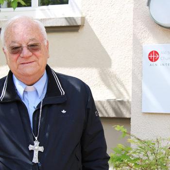 ACN 국제본부를 방문한 튀니스대교구장 일라리오 안토니아치 대주교(출처=ACN 자료사진)