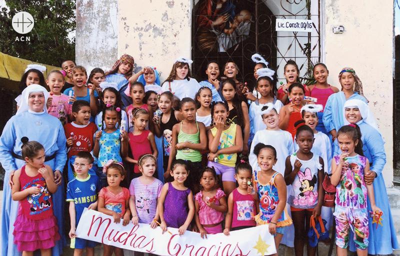 쿠바 예수 말씀과 희생의 선교 수녀회의 교리교육 및 사목 활동 지원(출처=ACN 자료사진)