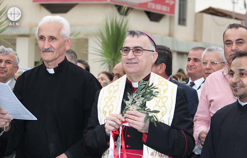 이라크 칼데아 가톨릭 아르빌대교구장 바샤르 마티 와르다 대주교. 2016년에 ACN 한국지부 초청으로 방한한 바 있다.(© Iban de la Sota / ACN)