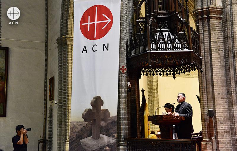 2016년 ACN 한국지부의 초청으로 방한한 와르다 대주교 (출처=ACN 자료사진)