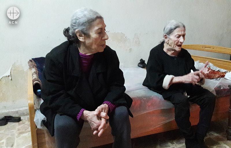 수녀회와 ACN의 도움으로 살아가는 노인들 (출처=ACN 자료사진)