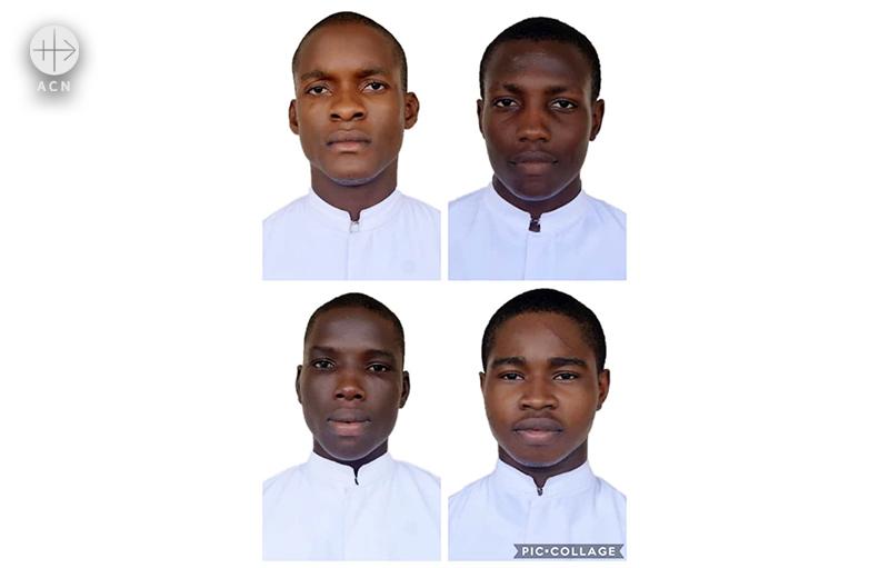 지난 1월 나이지리아에서 납치된 4명의 신학생들(출처=ACN 자료사진)