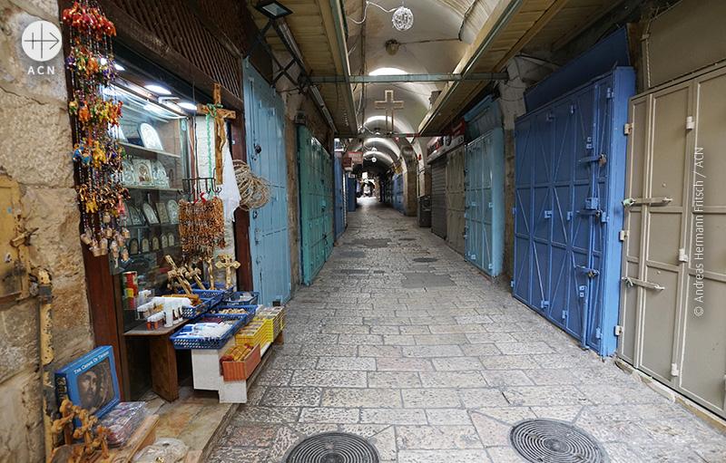 시장에서는 아주 소수의 상점들만 문을 열고 있다. (출처=ACN / A.H. Fritsch)