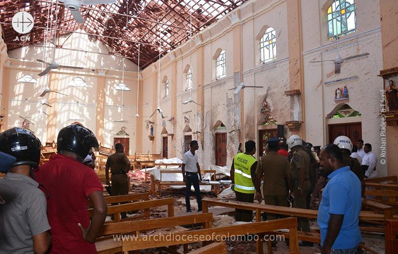 폭탄 테러 이후 성 세바스티안 성당 (출처=Roshan Pradeep & T Sunil)