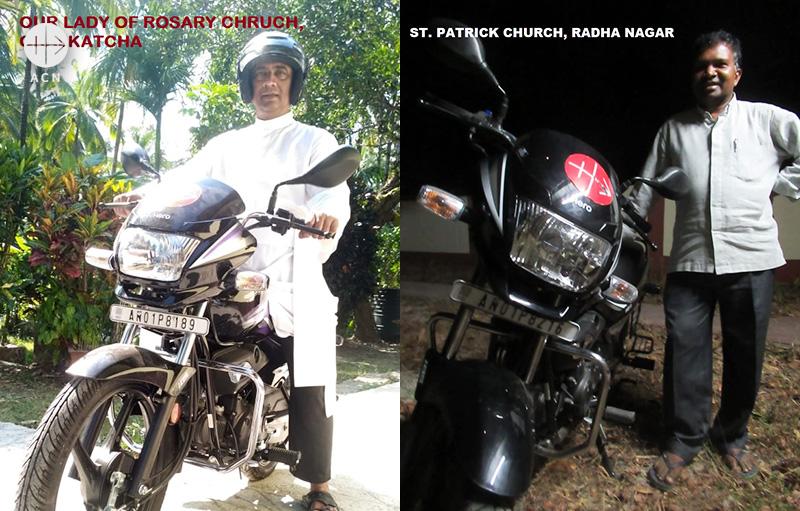오랄캇차 묵주기도의 성모 본당과 라드하나가르 성 파트리치오 본당 사제 (출처=ACN 자료사진)