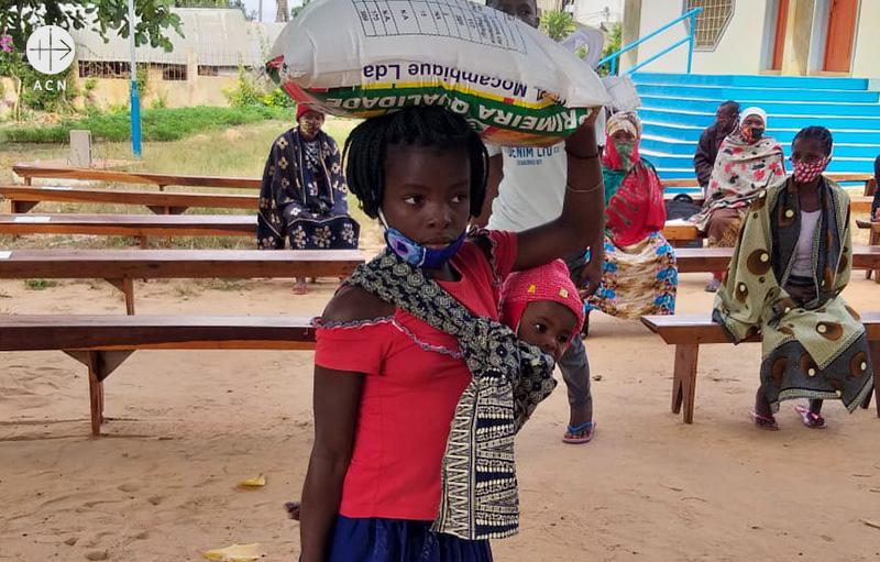 IS 공격을 피해 떠나온 모잠비크의 국내 실향민 (출처=ACN 자료사진)