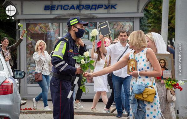 벨라루스 연대 시위 (출처=Wiktor Wieden/ACN)