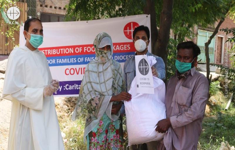파키스탄 파이살라바드교구 코로나19 긴급지원 (출처=ACN 자료사진)
