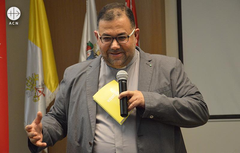 레바논 마로니트 가톨릭교회 총대교구 청년사목위원장 투픽 부하디르 신부 (출처=ACN 자료사진)