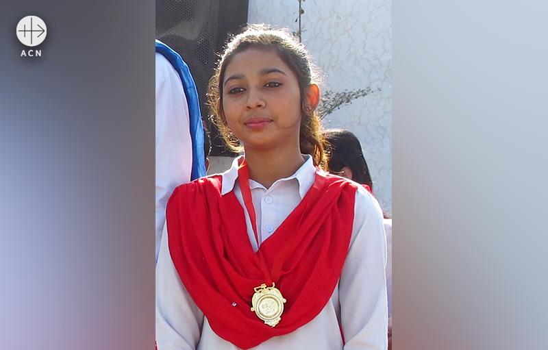 파키스탄 파이살라바드에서 납치당한 14세 그리스도인 소녀 마이라 샤바즈 (출처=ACN 자료사진)