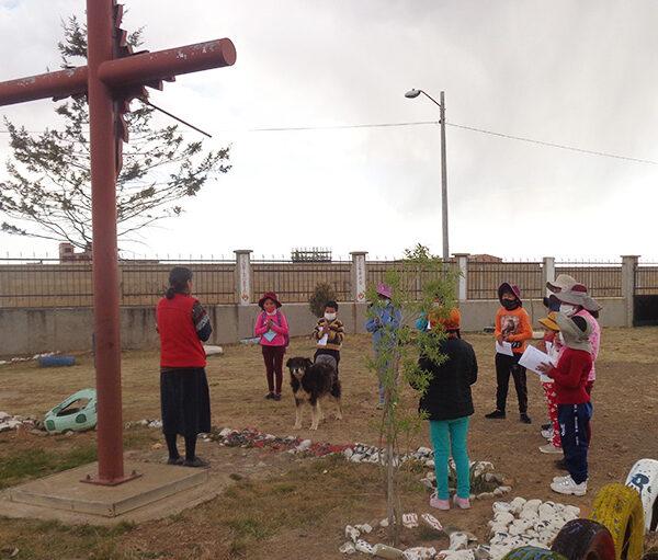 2020년 100만 어린이의 묵주기도, 볼리비아 엘알토교구 (출처=ACN 자료사진)