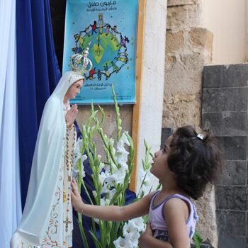 2020년 ACN 100만 어린이의 묵주기도에 참여하는 시리아의 어린이들 (출처=ACN 자료사진)