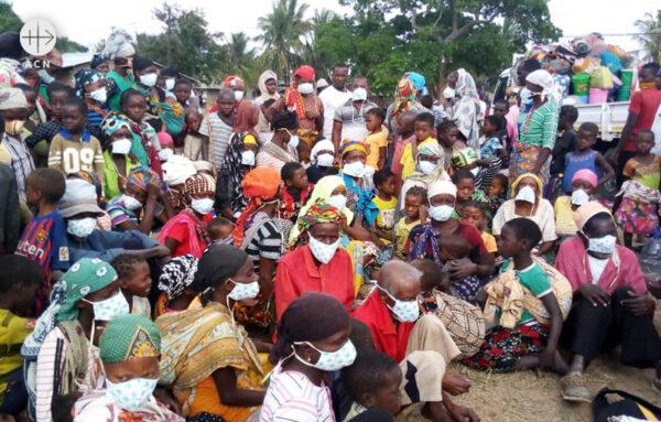 모잠비크 카보델가도의 실향민들 (출처=ACN 자료사진)