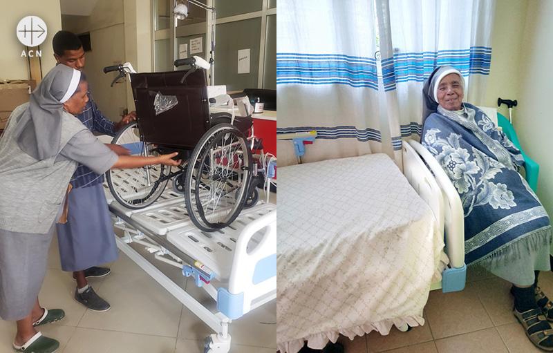에티오피아 성모 성심의 프란치스코 선교 수녀회에 환자용 침대와 휠체어 지원 (출처=ACN 자료사진)