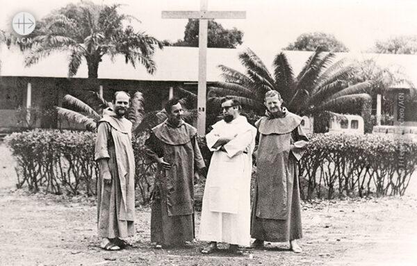 50년 전 처음 중앙아프리카 공화국에서 선교 활동을 시작한 4명의 가르멜회 소속 사제들 (출처=ACN 자료사진)