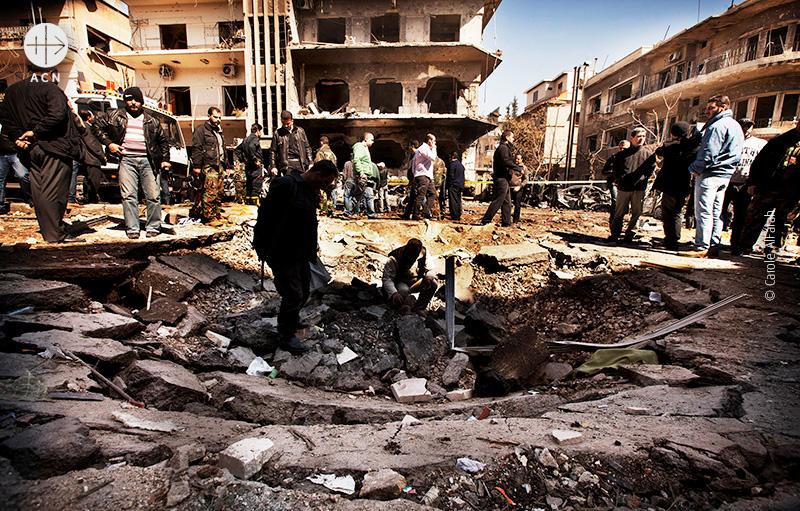 시리아 수도 다마스쿠스 차량을 이용한 자살폭탄 공격 (출처=ACN 자료사진)
