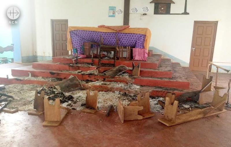 테러 공격을 받은 모잠비크의 예수 성심 성당 (출처=ACN 자료사진)